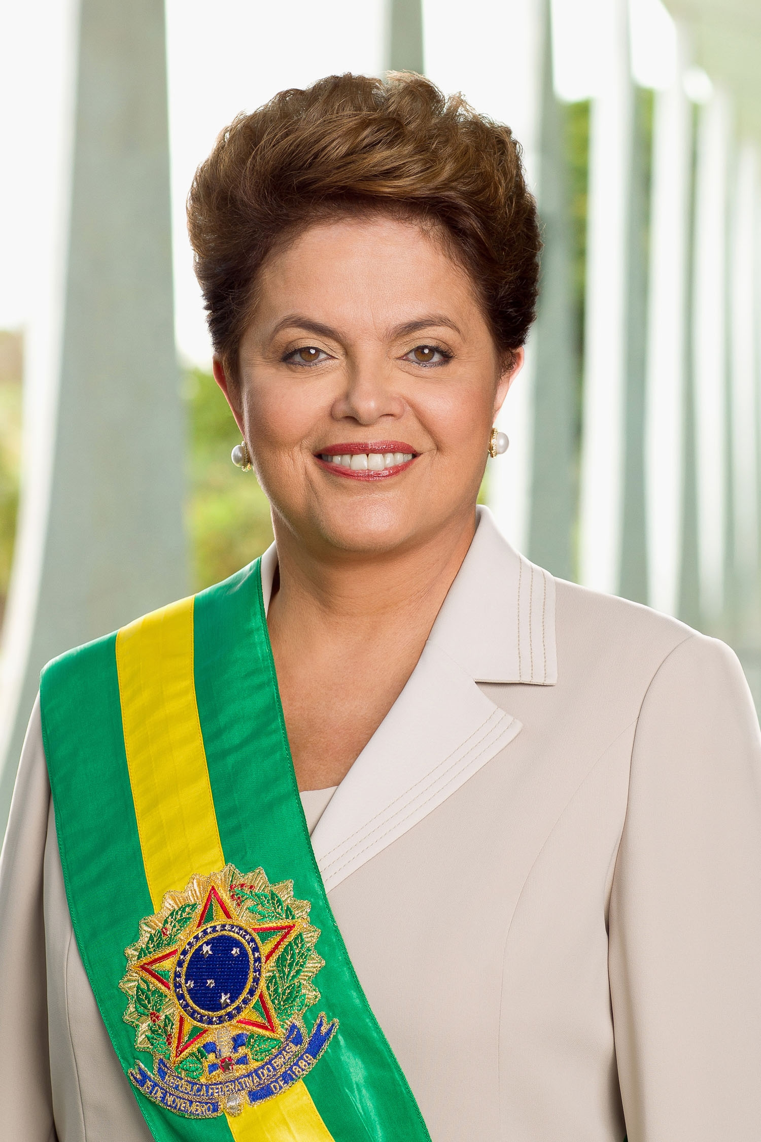 The official photograph of Brazilian President Dilma Rousseff in Brasilia on January 9, 2011