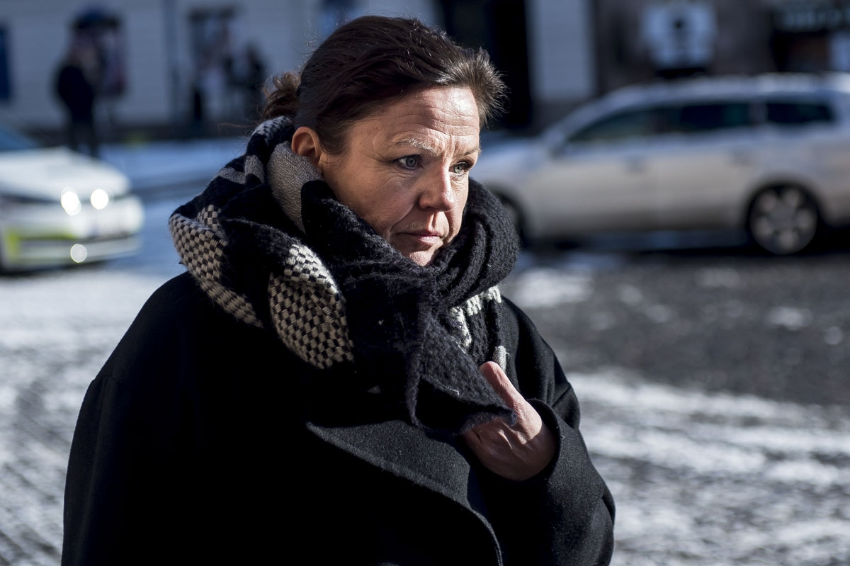 Defence attorney Betina Hald Engmark arrives at the Copenhagen City Court, on the seventh day of the trial of Danish inventor Peter Madsen, charged with murdering and dismembering Swedish journalist Kim Wall aboard his homemade submarine, in Copenhagen on