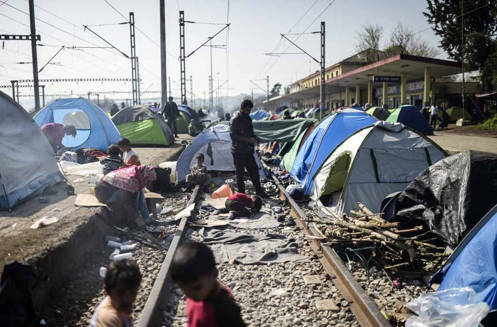 Le camp d'Idomeni, le 1er avril 2016