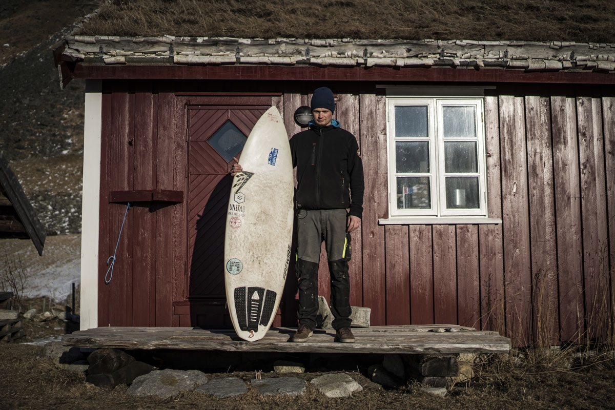 Ole Kristian Fjelltun-Larsen, 34, a coffeeshop and B&B owner, poses on March 8, 2018, in Unstad, northern Norway, Lofoten islands, within Arctic Circle. Ole Kristian Fjelltun-Larsen, 34, coffeeshop B&B owner  Surfing to me is relaxing and good exercise. T