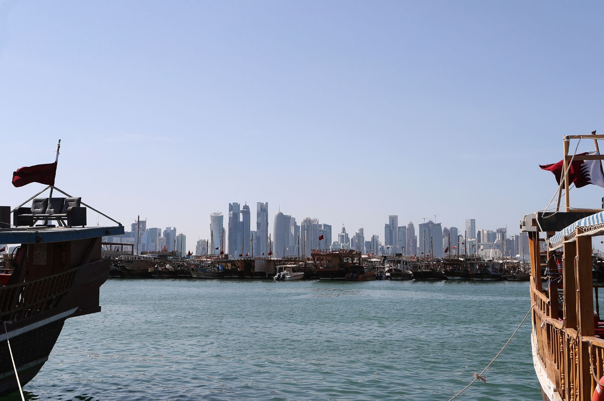 A general view of the Doha port, June, 2017.