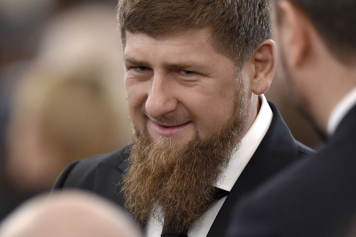 Chechnya's leader Ramzan Kadyrov waits before Russian President Vladimir Putin's Federal Assembly address at the Kremlin in Moscow on December 1, 2016.