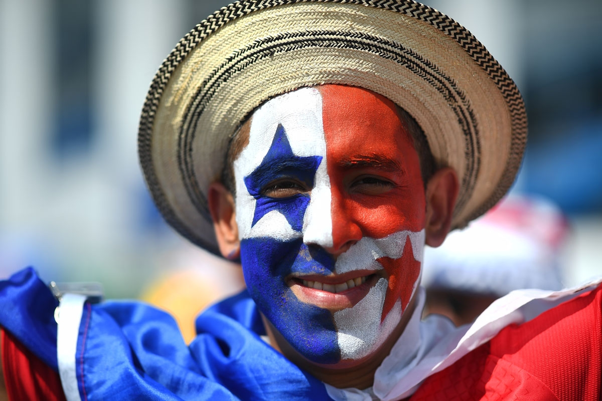A Panama fan poses before the Russia 2018 World Cup Group G football match between England and Panama at the Nizhny Novgorod Stadium in Nizhny Novgorod on June 24, 2018.