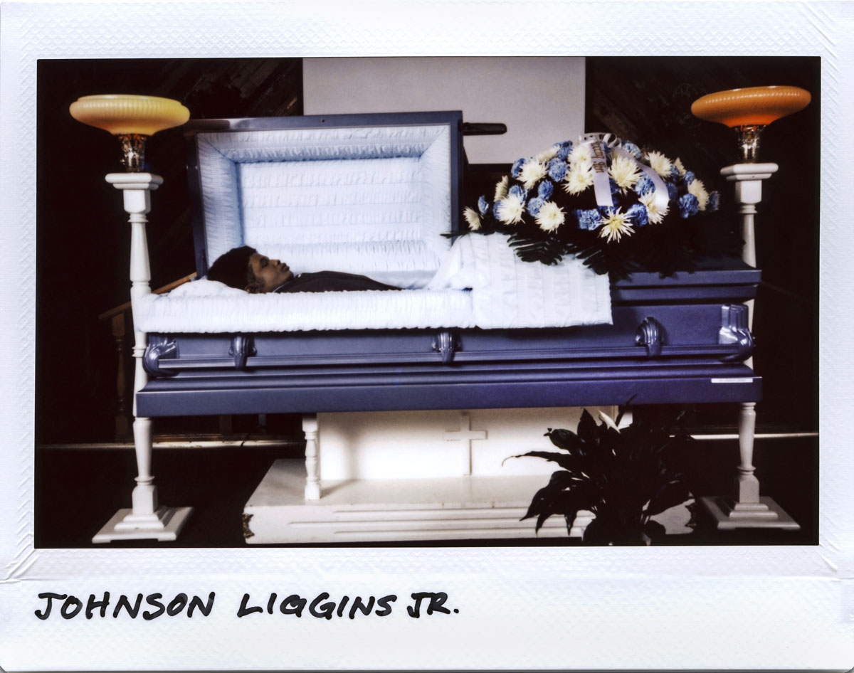 Johnson John John Liggins Jr.,17-year-old, at the Gatlings Funeral Home in Chicago, Illinois on November 3, 2017.  Higgins died from gunshots to his head and chest in the 8000 block of South Coles Avenue on October 23, 2017.