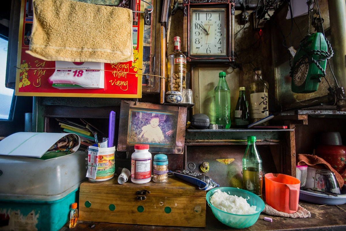Some of the belongings of Kha Tu Ngoc are seen in her two-square-meter house in Ho Chi Minh City on May 2, 2018