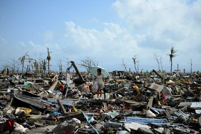 Tacloban, aux Philippines, trois jours après le passage du super-typhon Haiyan