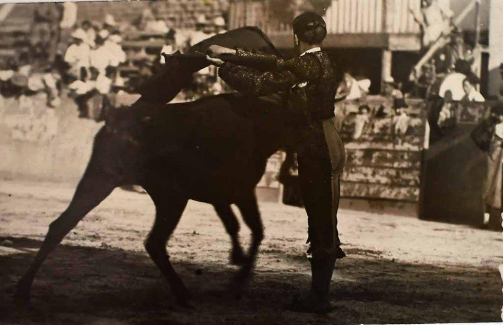 Don Neto dans l'arène, probablement dans les années 1930 (AFP)
