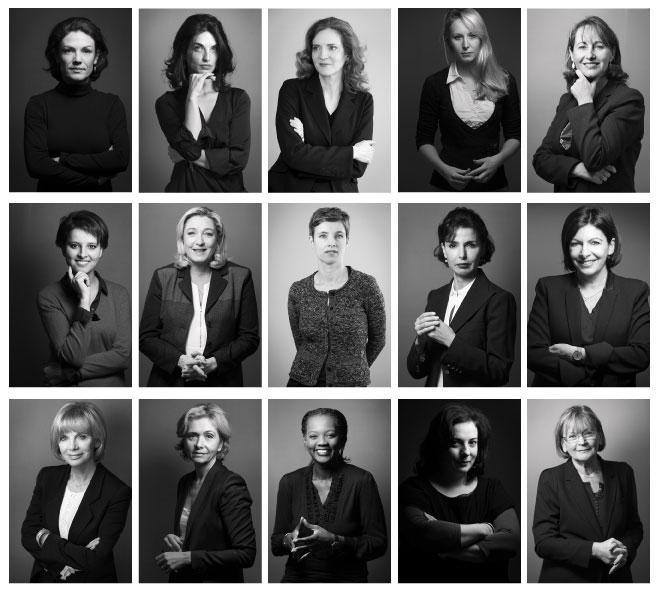 Les quinze femmes politiques françaises photographiées par Joël Saget