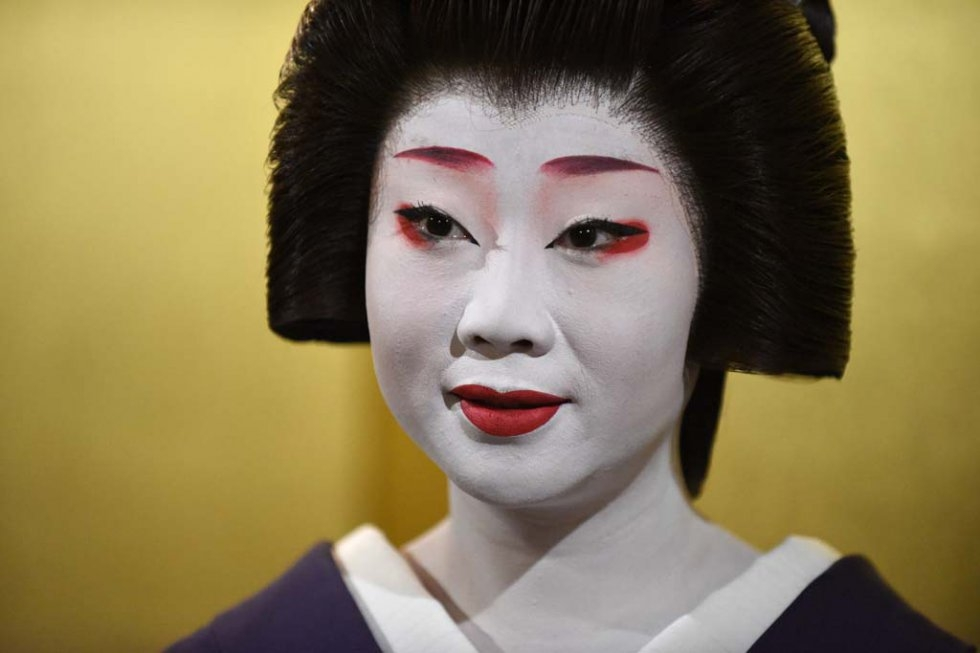 La geisha Kikumaru, en septembre 2015 à Kyoto (AFP / Toru Yamanaka)