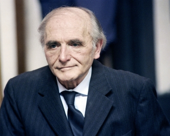 Former SS officer Klaus Barbie, the Butcher of Lyon, expelled by Bolivia, waits in courthouse in Lyon on May 11, 1987 on the first day of his trial on charges of crimes against humanity. He was sentenced to life imprisonment for deporting 844 members of R