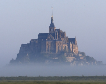 A general view shows Le Mont-Saint-Michel, northwestern France on April 23, 2017. (Photo by CHARLY TRIBALLEAU / AFP)