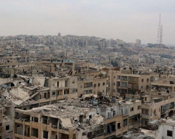 Une zone d'Alep sous contrôle rebelle, le 24 novembre 2014