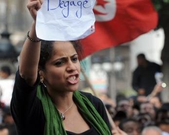TUNISIA-POLITICS-UNREST-PROTEST