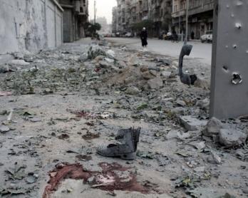 Après une attaque au mortier à Alep, le 6 novembre 2013