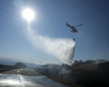 Incendie de forêt en Galice, le 24 août 2013