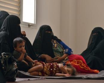 Des réfugiés yéménites dans un centre d'hébergement des Nations unies à Obock, Djibouti, le 12 avril 2015