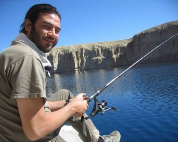 Le journaliste de l'AFP Sardar Ahmad en octobre 2008 près de Bamiyan