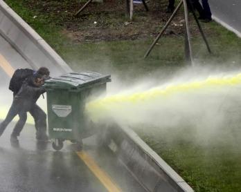 Affrontements à Ankara après la mort du jeune Berkin Elvan, le 11 mars 2014